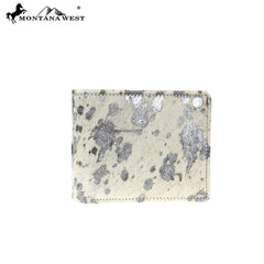 MWS-W021 Genuine Metallic Burnout Cowhide Collection Men's Wallet