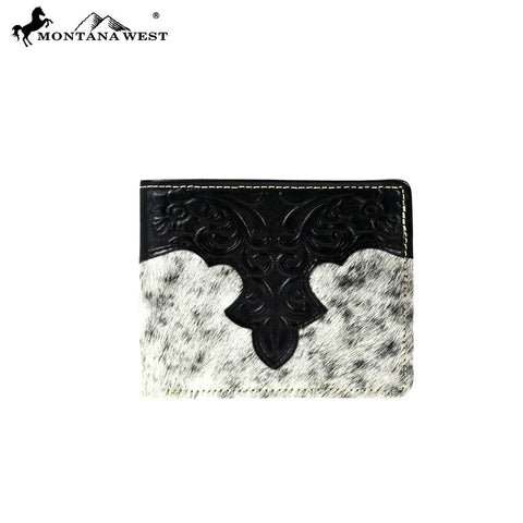 MWS-W024A Genuine Tooled Hair-On Leather Collection Men's Wallet