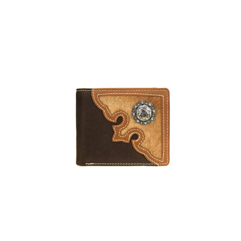 MWS-W027 Genuine Hair-On Leather Pistol Collection Men's Wallet