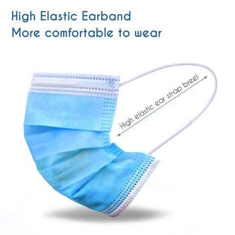 Disposable Face Masks 3 Layers  Protective Cover Masks (Non-Medical)