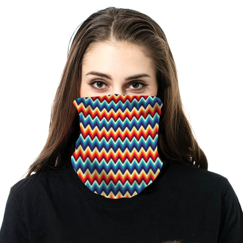 NFC-9013  Serape Print Neck Gaiter Face Mask Reusable, Washable Bandana /Head Wrap Scarf-1Pcs/Pack