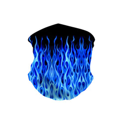 NFC-9017  Blue Flame Fire Neck Gaiter Face Mask Reusable, Washable Bandana /Head Wrap Scarf-1Pcs/Pack
