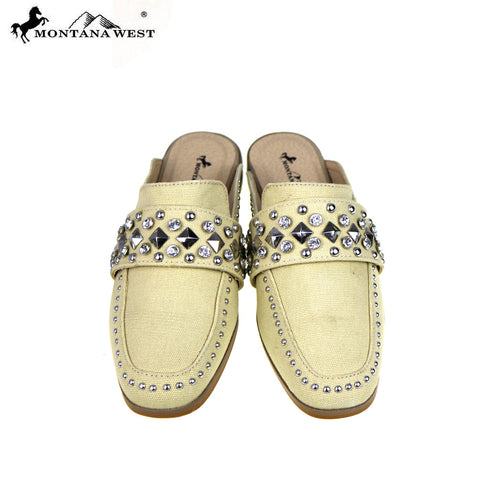 NFF-S001  Montana West  Studs Collection Mule Slide
