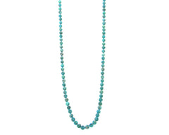 "NKS170715-03  8MM 36"" Pearl Stone Hand-knotted Necklace"