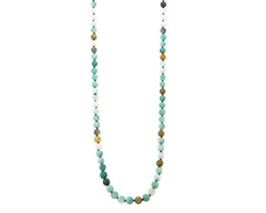 "NKS170715-08  10MM 36"" Pearl Stone Hand-knotted Necklace"