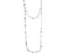 "NKS170715-10  6MM 60"" Pearl Stone Hand-knotted Necklace"