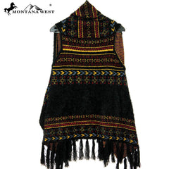 PCH-1603  Montana West Tribal Fringe Vest