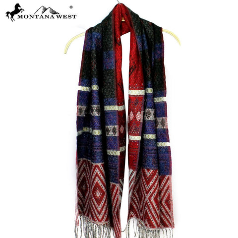 PCH-1647 Montana West Tribal Fringe Scarf