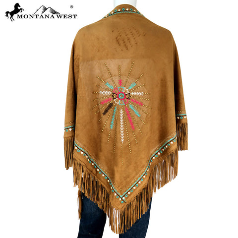 PCH-1660 Montana West Embroidered Collection Shawl