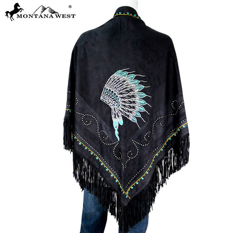 PCH-1663 Montana West Embroidered Collection Shawl