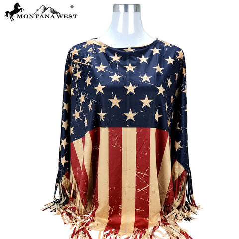 PCH-1678 Montana West American Pride Collection Poncho