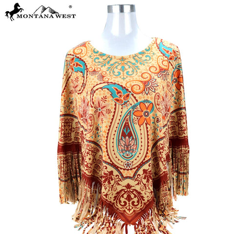 PCH-1681 Montana West Aztec Collection Poncho