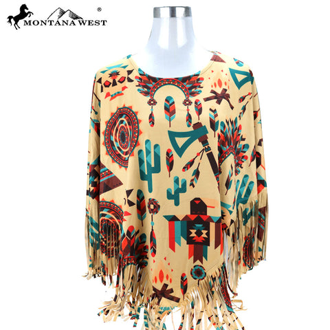 PCH-1682 Montana West Native American Collection Poncho