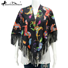 PCH-1696 Montana West Horse Print Collection Shawl