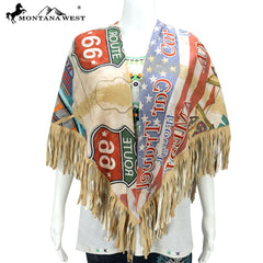PCH-1762 Montana West Vintage Route 66 Collection Shawl