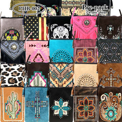 PHB-02 American Bling Crossbody Bag Cell Phone Pouch Pre-Pack 24Pcs/Box