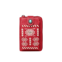 PHD-121 American Bling Embroidered Collection Phone Wallet/Crossbody - Red