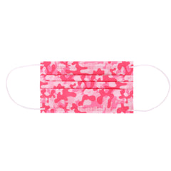 DSFM-01PK American Bling 10Pcs/Pack Pink Camo Print 3Ply Disposable Face Masks (Non-Medical)