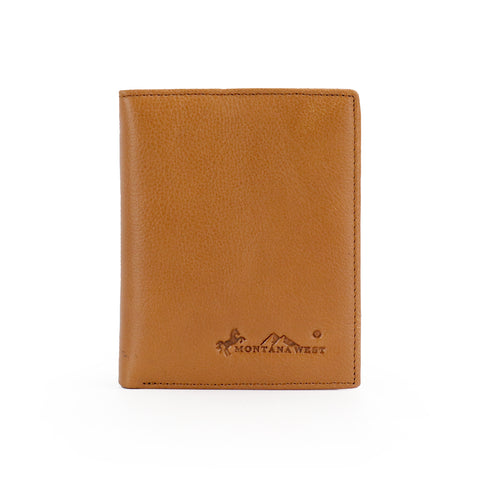 RFID-W001 Genuine Leather Men's Bi-Fold Wallet