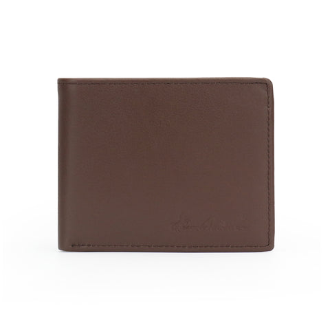 RFID-W002 Genuine Leather Men's Bi-Fold Wallet