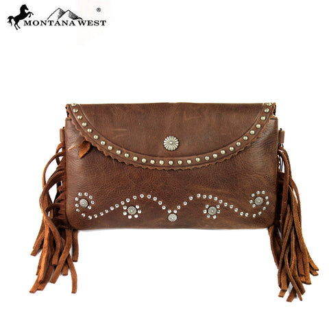 RLC-L012 Montana West 100% Real Leather Clutch