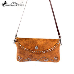 RLC-L037 Montana West 100% Real Leather Clutch