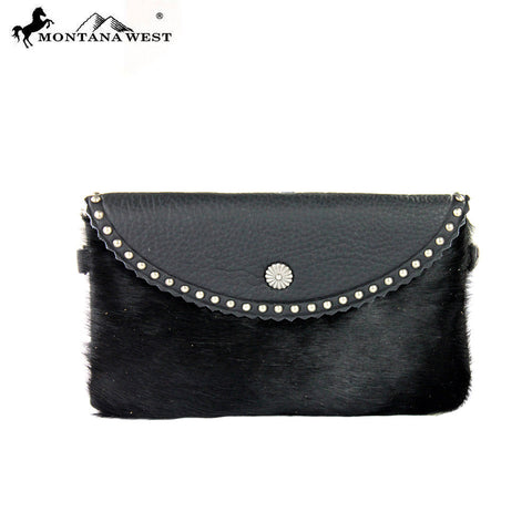 RLC-L039 Montana West 100% Real Leather Clutch