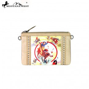 RLC-L053 Montana West 100% Real Leather Rodeo Collection Clutch
