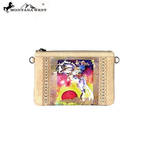 RLC-L055 Montana West 100% Real Leather Rodeo Collection Clutch