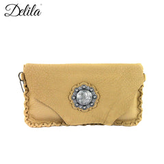 RLC-L076 Delila 100% Genuine Leather Clutch