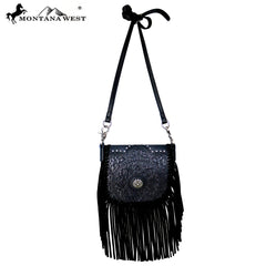 RLC-L097 Montana West Real Leather Fringe Crossbody