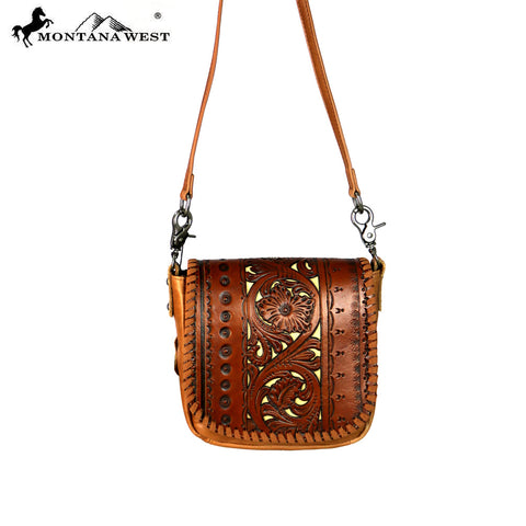 RLC-L098 Montana West Real Leather Crossbody
