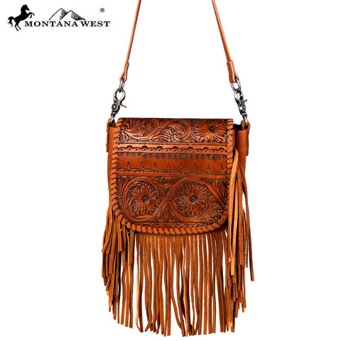 RLC-L099 Montana West Real Leather Crossbody
