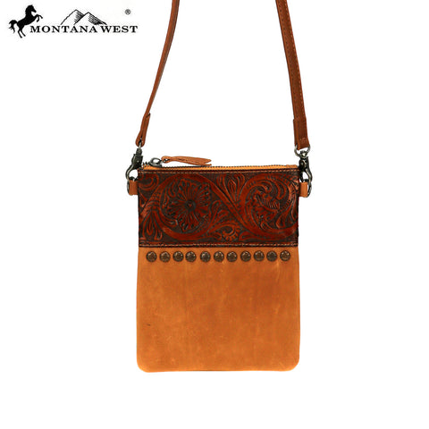 RLC-L116 Montana West Real Leather  Crossbody