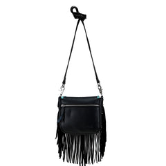 RLC-L118 Montana West Real Leather Fringe Crossbody
