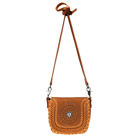 RLC-L120 Montana West Real Leather Whipstitch Crossbody