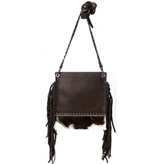 RLC-L127 Montana West Real Leather Fringe Shoulder/Crossbody Bag