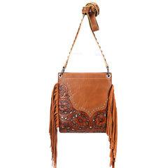 RLC-L130 Montana West Real Leather Fringe Shoulder/Crossbody Bag
