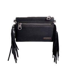 RLH-014 Montana West Hair-On Cowhide Leather Fringe Clutch/Crossbody