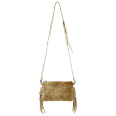 RLH-030 Montana West Hair-On Cowhide Leather Fringe Clutch/Crossbody
