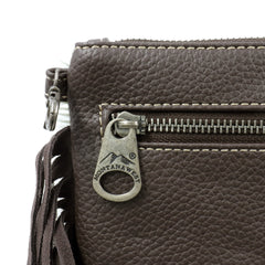 RLH-031 Montana West Hair-On Cowhide Leather Fringe Clutch/Crossbody