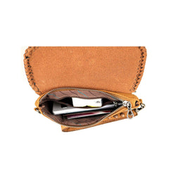 RLL-003 Montana West 100% Genuine Leather Tooled Collection Clutch/Crossbody