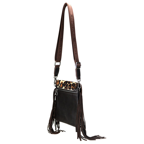 RLL-006 Montana West 100% Genuine Leather Hair-On Hide Collection Crossbody