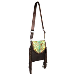 RLL-007 Montana West 100% Genuine Leather Tooled Collection Crossbody