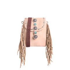RLL-016 Montana West 100% Genuine Leather Fringe Collection Crossbody