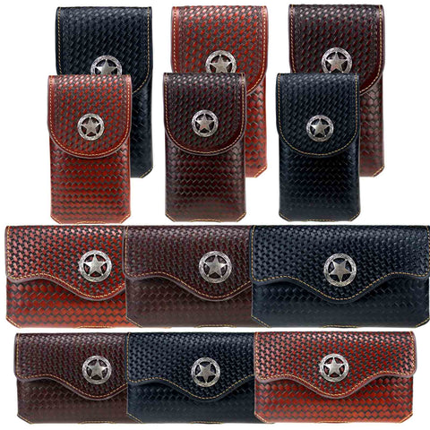 RLP-01 Montana West Genuine Leather Belt Loop Holster Cell Phone Case Pre-Pack (32pcs/Box)