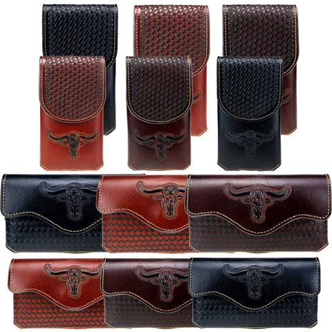 RLP-03 Montana West Genuine Leather Belt Loop Holster Cell Phone Case Pre-Pack (32pcs/Box)