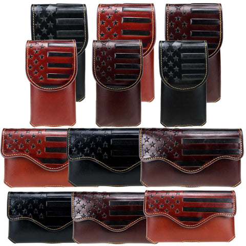 RLP-07 Montana West Genuine Leather Belt Loop Holster Cell Phone Case Pre-Pack (32pcs/Box)