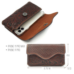 RLP-010 Montana West Genuine Leather Belt Loop Holster Cell Phone Case