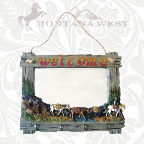 "RS-MR002 Montana West Resin Western ""Welcome"" Wall Mirror"